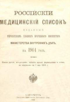 Управленiе Главнаго Инспектора - Россiйскiй медицинскiй списокъ